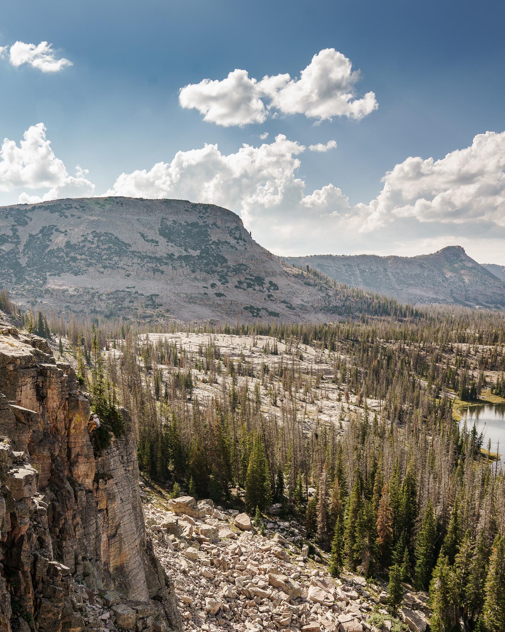 Rock Climber Ruth Lake Utah